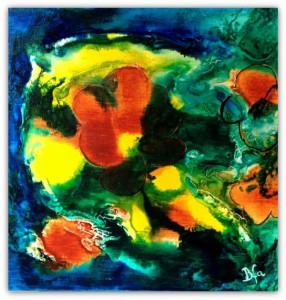 20 - 20  abstrakt blomster