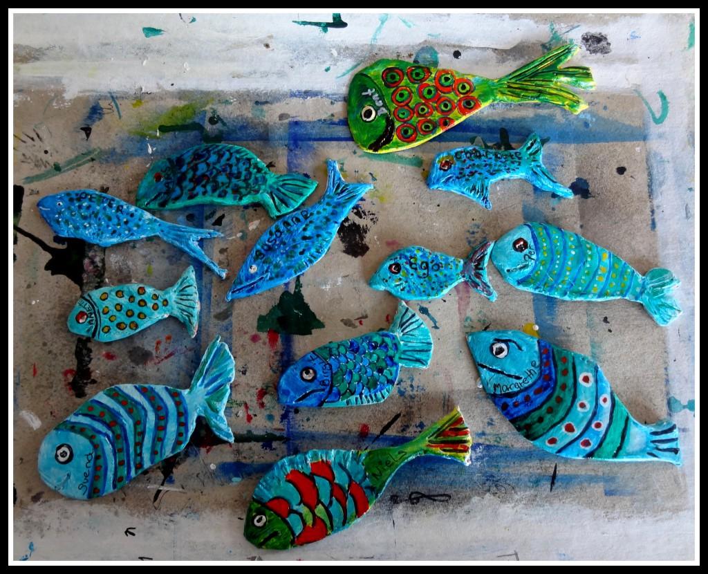små fisk i ler :-)