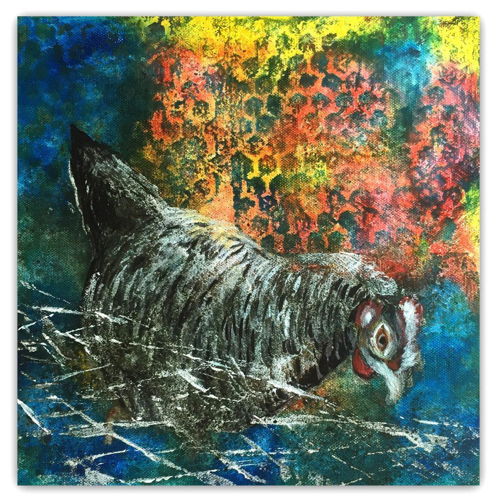Ikke alle fugle er frie, vi har også nogle bag hegn :-) Denne får dog lov at kigge op over :-)