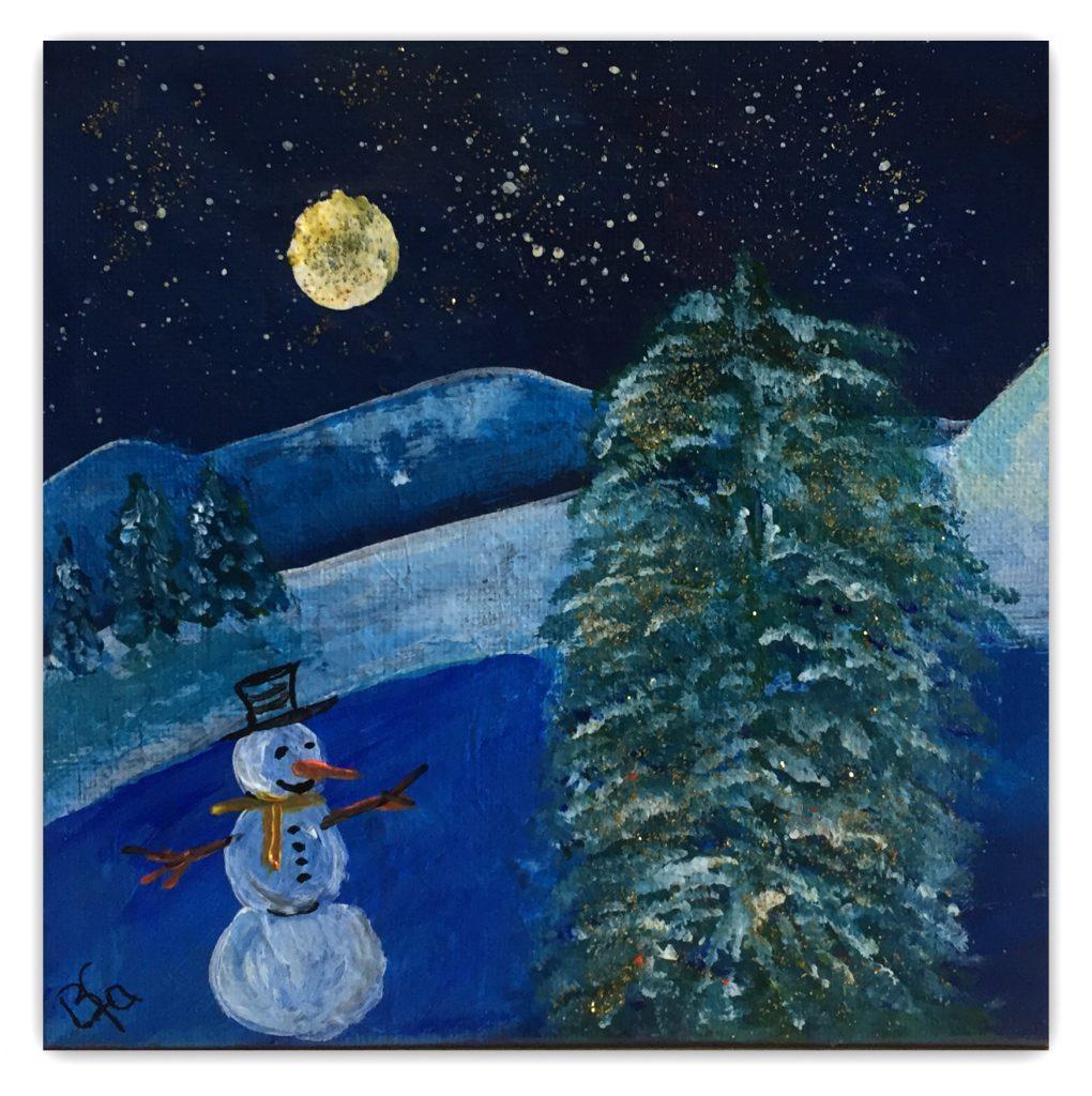 snemanden 20 - 20 akryl julekort