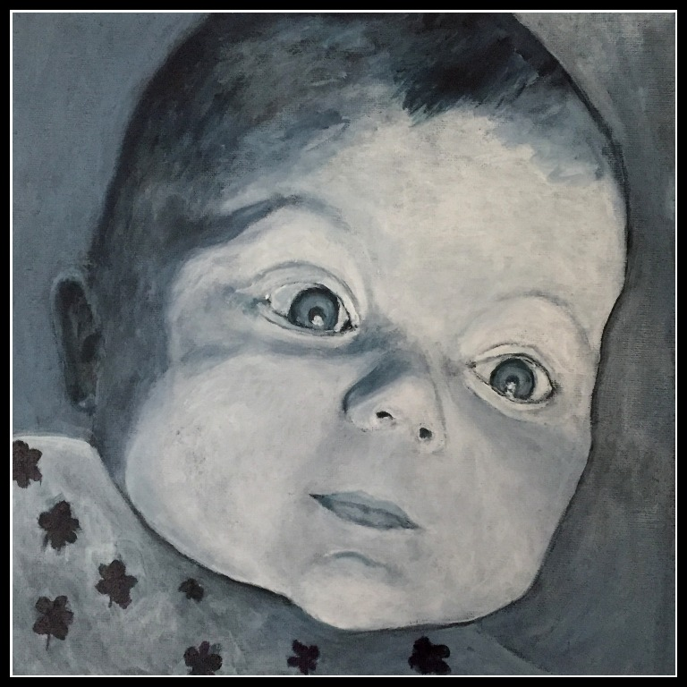 Baby pige portræt
